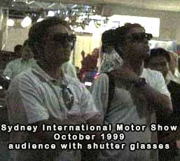 audience with shutter glasses